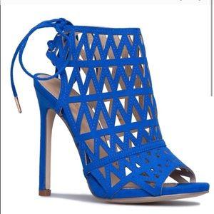 Tia Caged Sandal Blue (Shoe Dazzle)